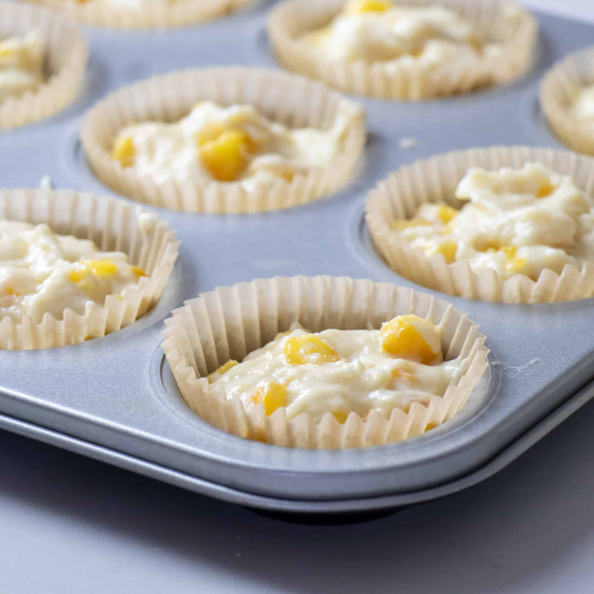 Spoon into paper lined muffin tins
