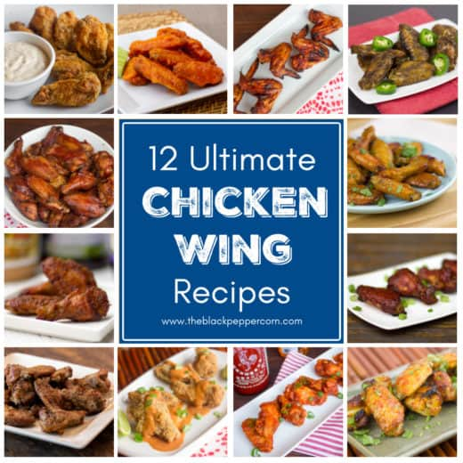 These 12 chicken wing recipes are the ultimate collection of tailgate party food. This collection has deep fried, smoked, baked and even air fried wings!