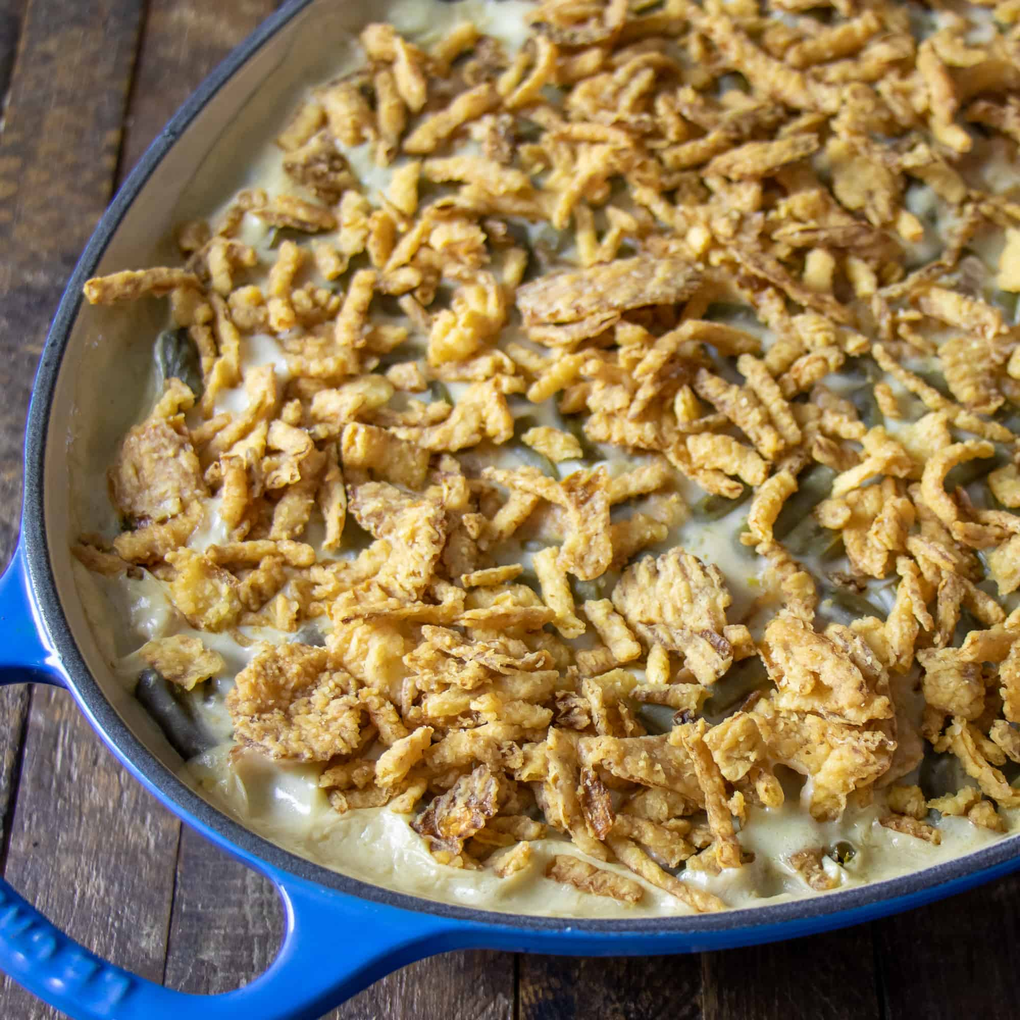 Finish with some more of the fried onions.