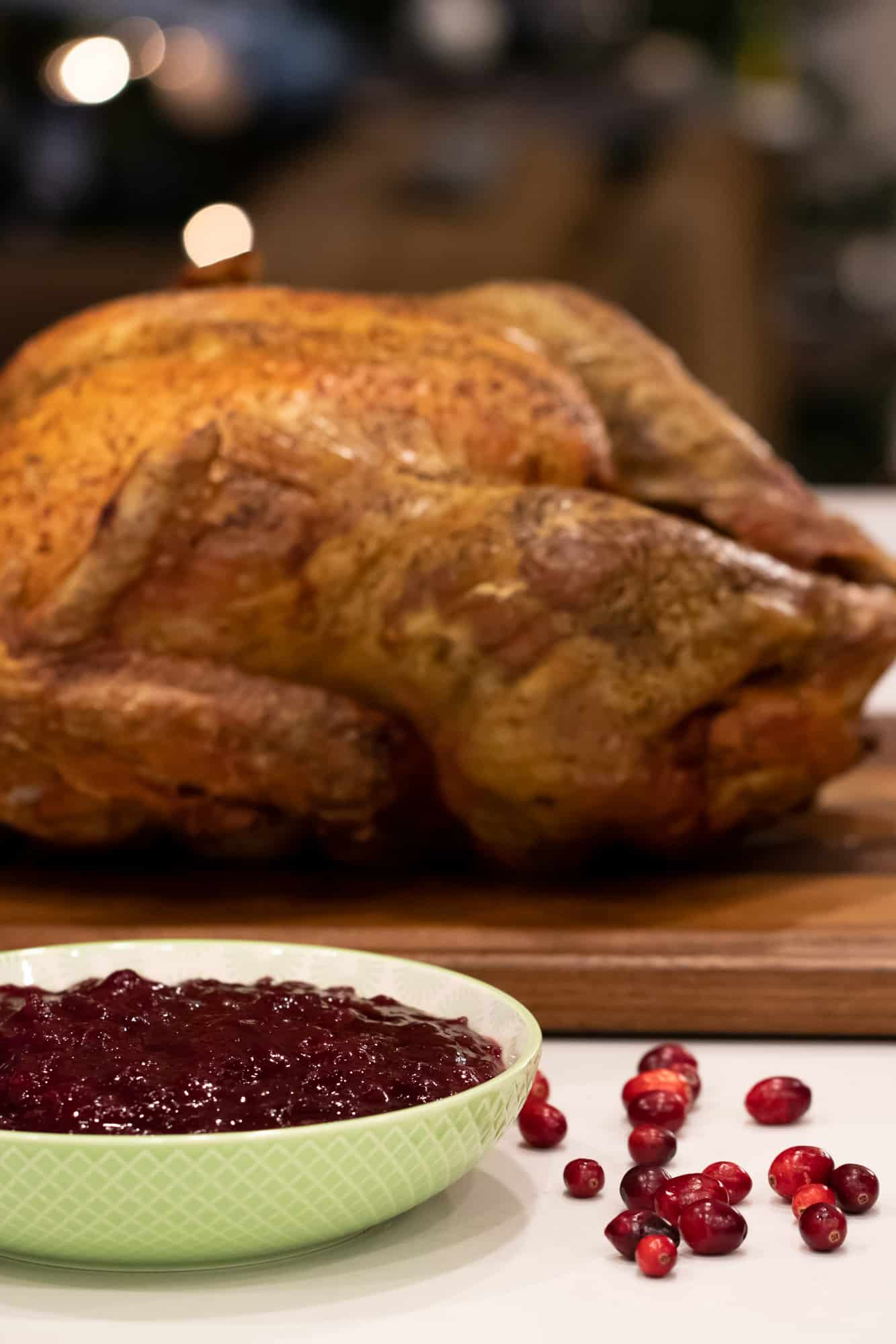 The cranberry sauce is great with turkey