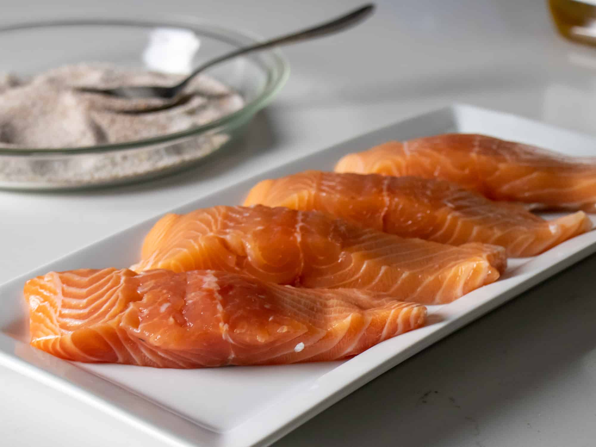 Individual portion salmon fillets (4oz/113g)