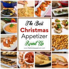 The pefect collection of appetizer recipes as you plan for a holiday party or gathering. This round up is ideal for Christmas and even New Years Eve.