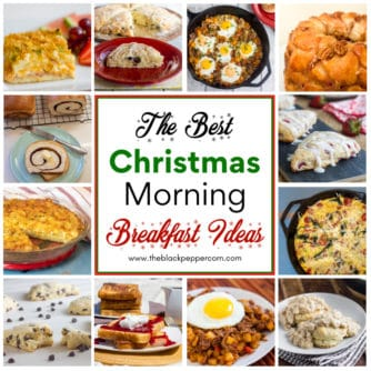 A round up of recipes that are perfect for Christmas morning breakfast or brunch. Great ideas for a small or large family meal.