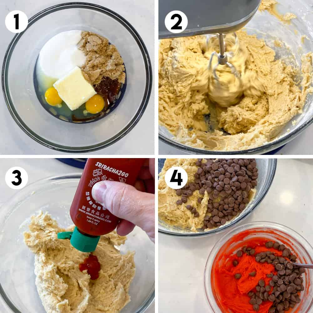 Step by step photos of making cookie dough