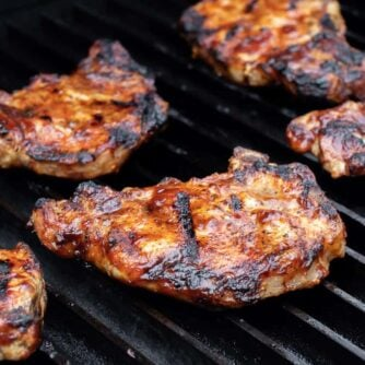 Chops on a grill